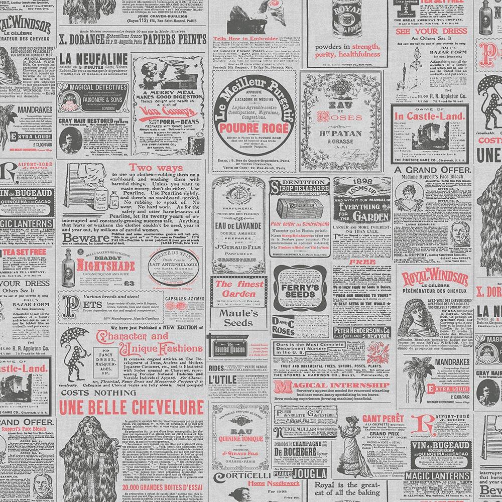 Duka Duvar Kağıdı Freedom Newspaper DK.14235-2 (16,2 m2)