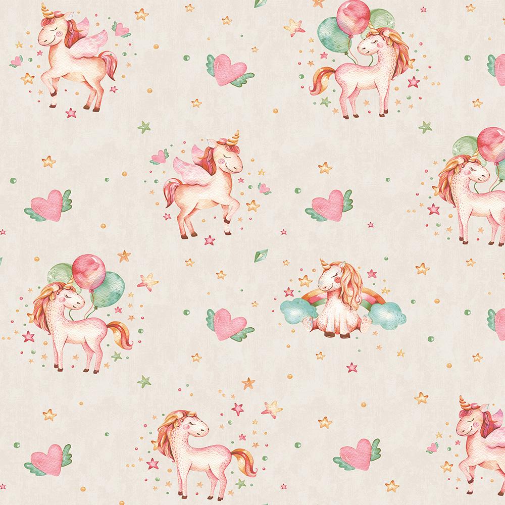 Duka Duvar Kağıdı Kids Collection Pony DK.15111-1 (16,2 m2)