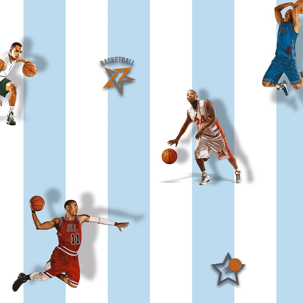 Duka Duvar Kağıdı Kids Collection Basketball DK.15188-3 (16,2 m2)