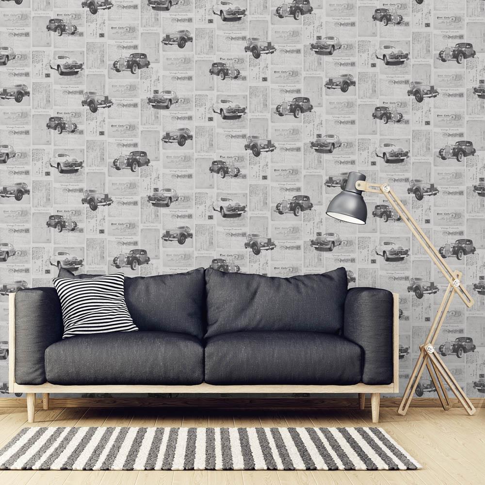 Duka Duvar Kağıdı Freedom Car DK.14251-3 (16,2 m2)