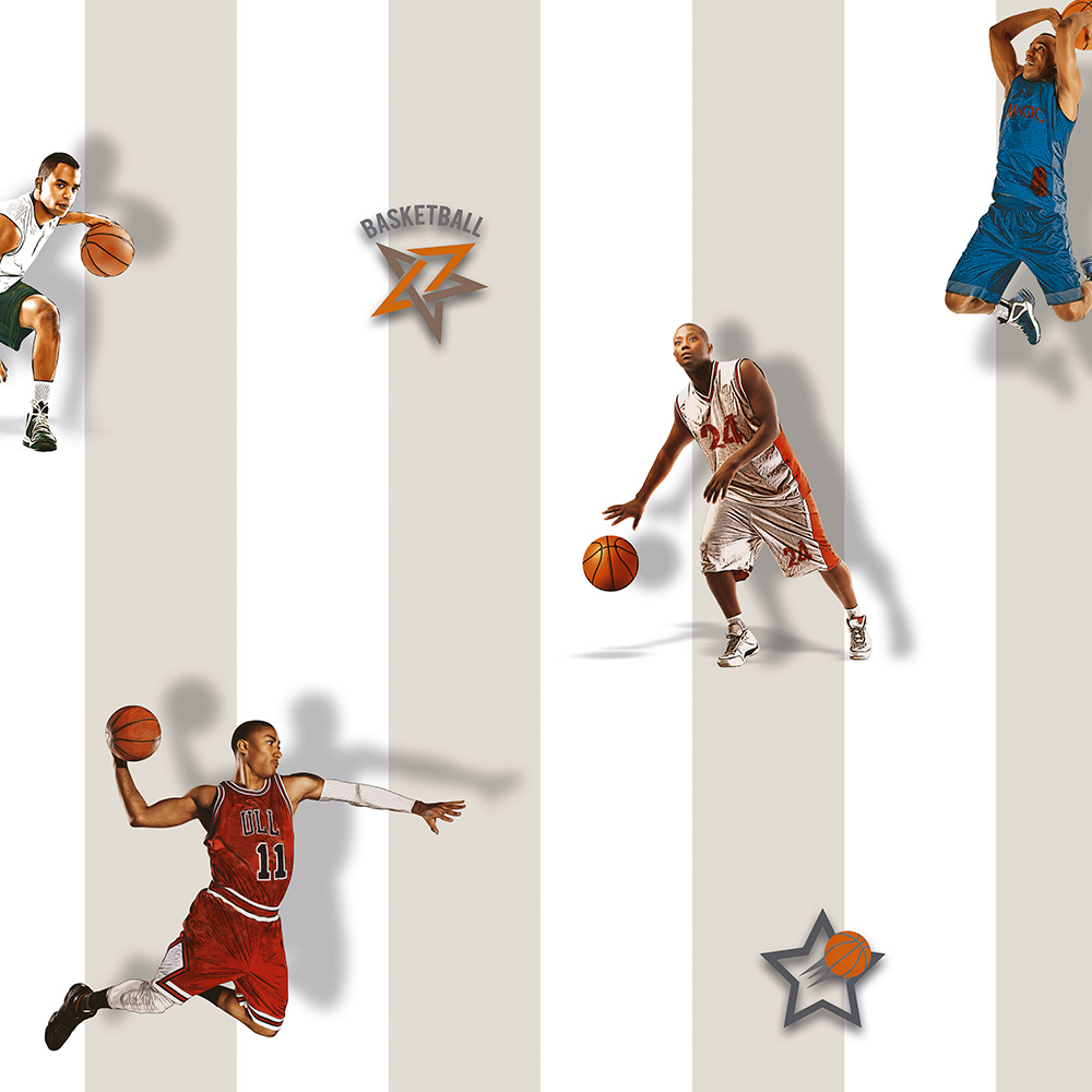 Duka Duvar Kağıdı Kids Collection Basketball DK.15188-1 (16,2 m2)