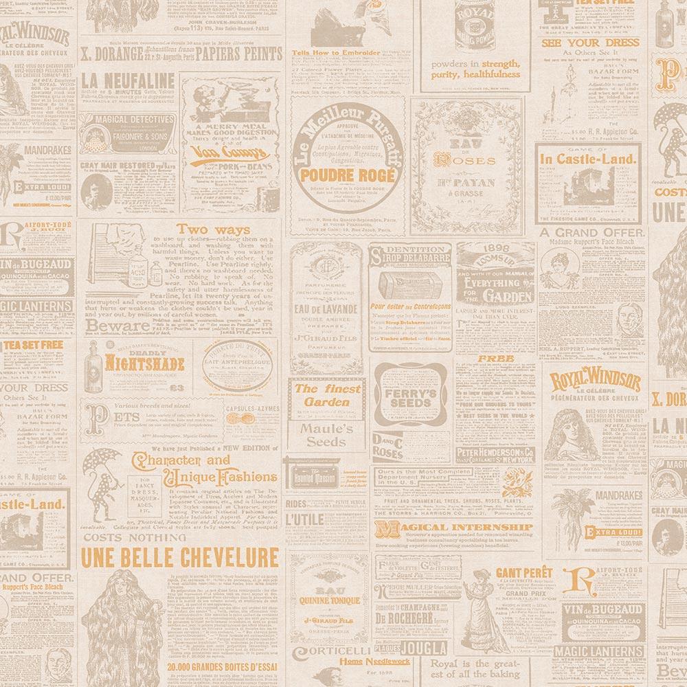 Duka Duvar Kağıdı Freedom Newspaper DK.14235-1 (16,2 m2)